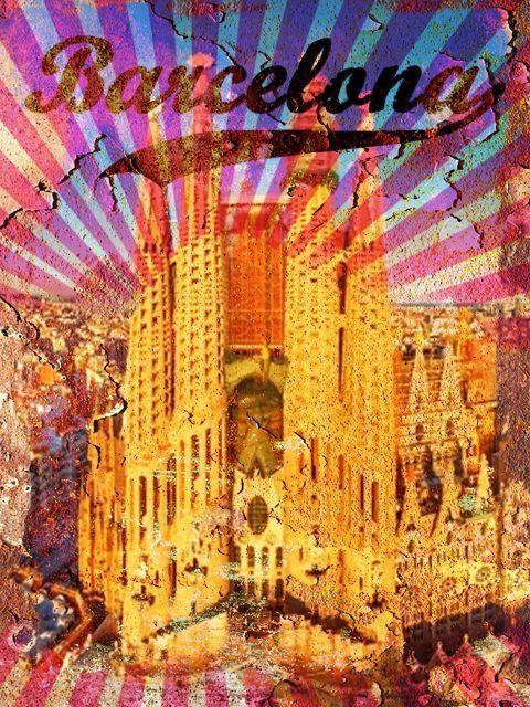 Poster Barcelona Vintage Poster