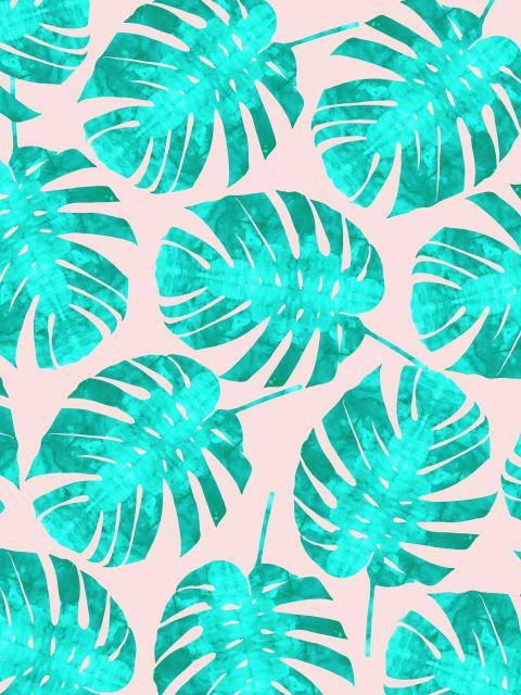 Poster Aquarela Padrão Tropical II