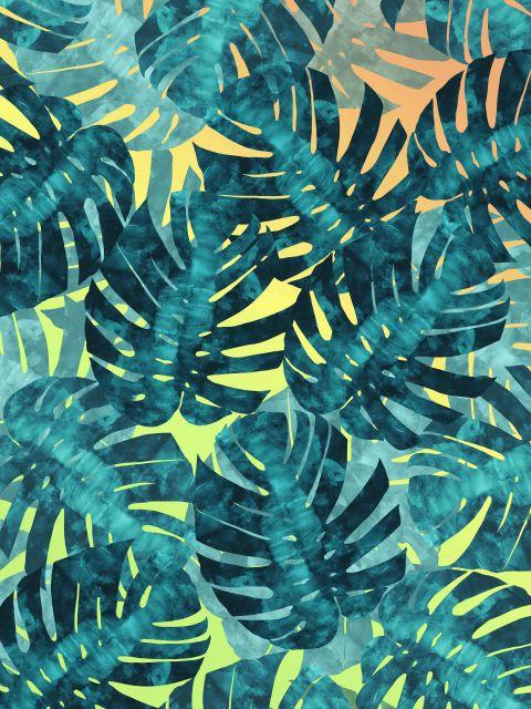 Poster Aquarela Padrão Tropical I