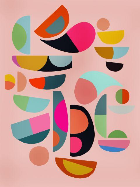 Poster Composição Abstrata  440