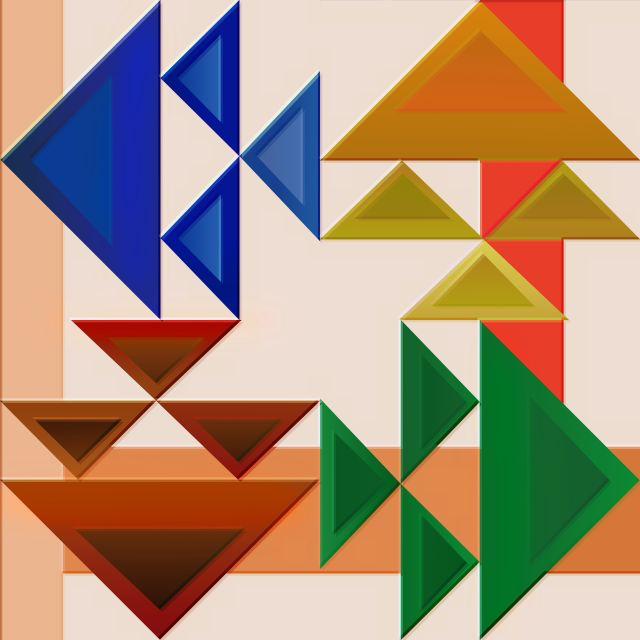 Poster Composição Abstrata  450   triangulo