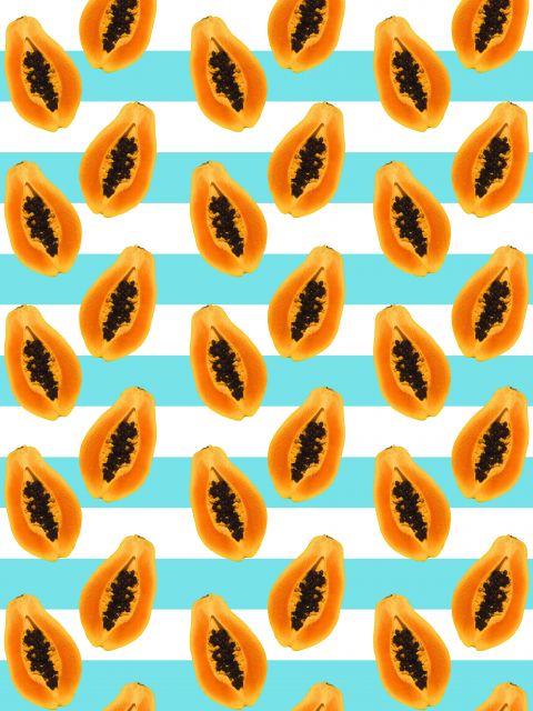 Poster Padrão Fashion com Papaias