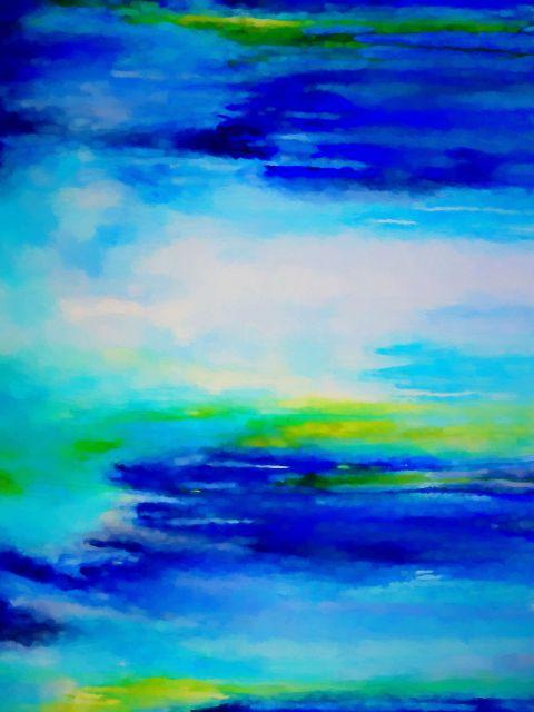 Poster Paisagem Abstrata 11   azul