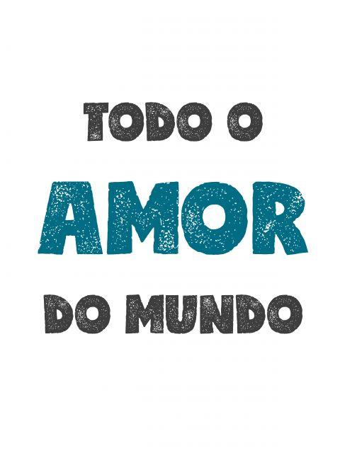 Poster Todo o Amor do Mundo - Azul