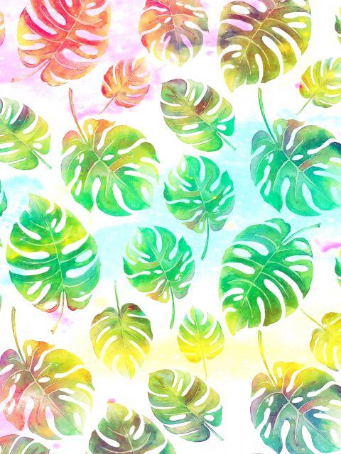 Poster Padrão colorido tropical
