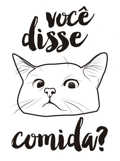 Poster Cadê a comida do gato