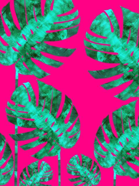 Poster Arte tropical vibrante