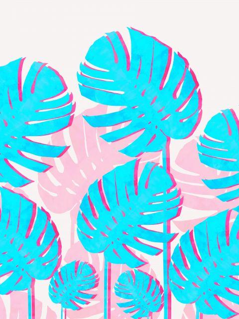 Poster Arte tropical vibrante I