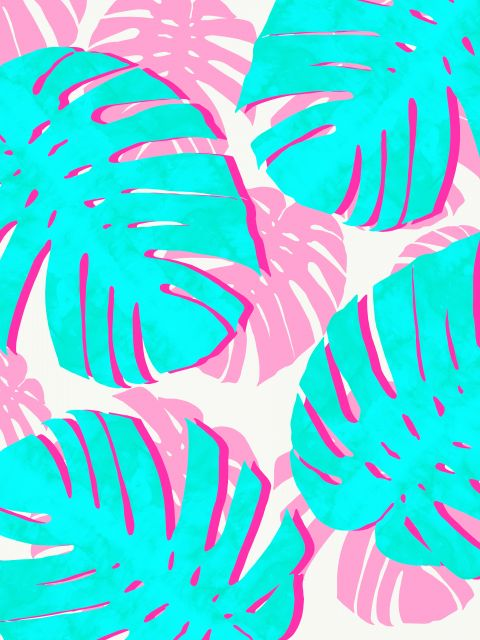 Poster Arte tropical vibrante II