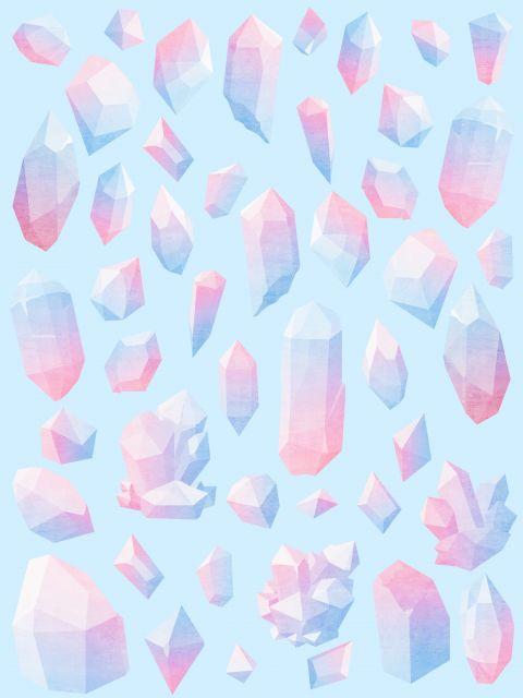 Poster Padrão diamantes
