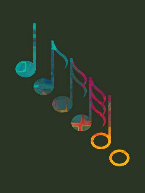 Poster Notes   notas musicais