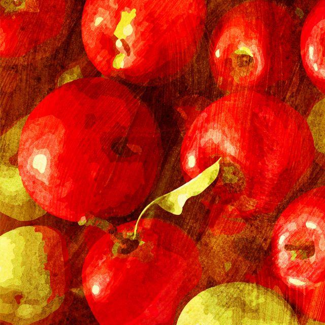 Poster Frutas - Maçã
