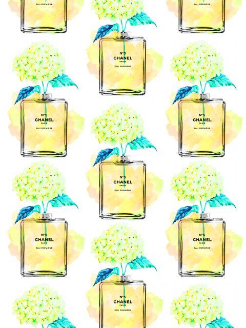 Poster Padrão perfume chanel