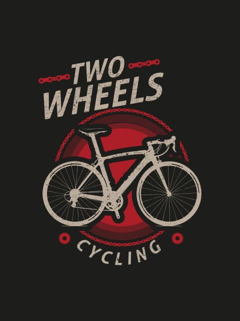 Poster Cycling - Two Wheels