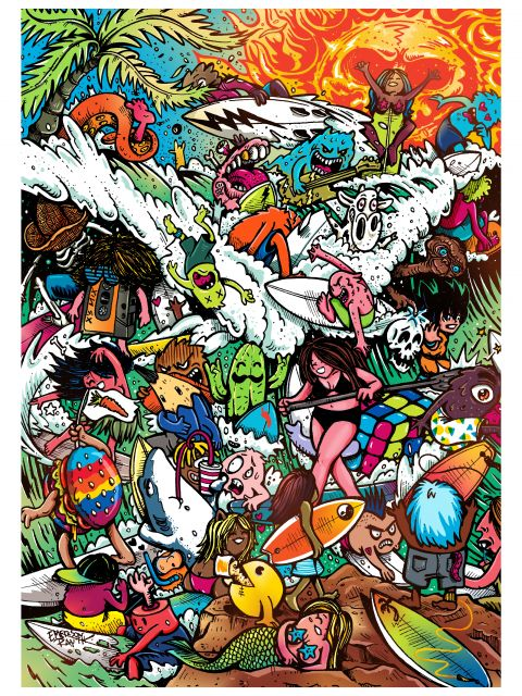 Poster Surf Doodles - 2017 N7