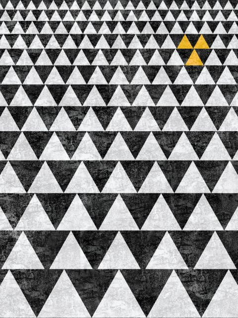 Poster POSTER TRIANGLE - YELLOW 3