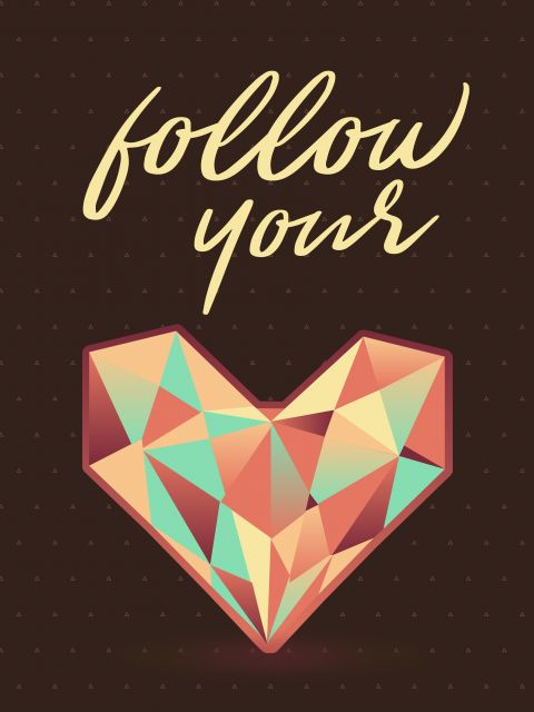 Poster Follow your geometric heart