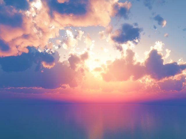 Poster Pôr de sol no mar