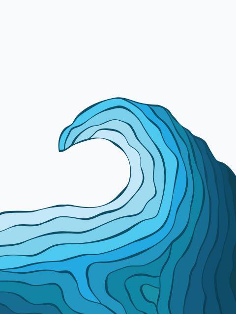 Poster Blue Wave