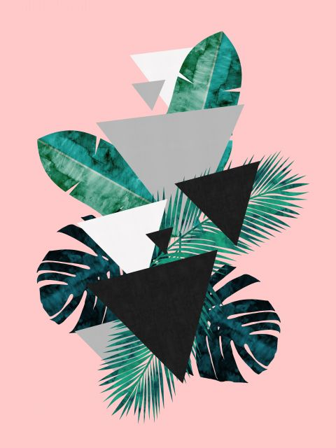 Poster Padrão folhas tropicais I