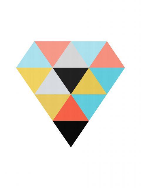 Poster Diamante Colorido