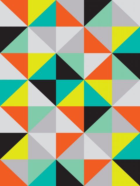 Poster Quadricula colorida