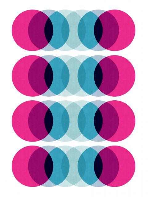 Poster Fusão azul rosa