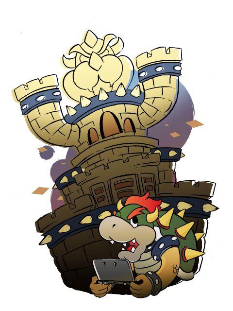 Poster Castelo do Bowser   mario nintendo