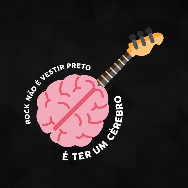 Poster Rock é ter um cérebro