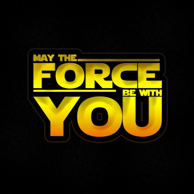 Poster Star Wars - Force be with you
