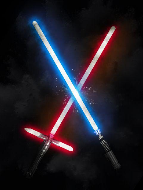 Poster Star Wars - Lightsaber
