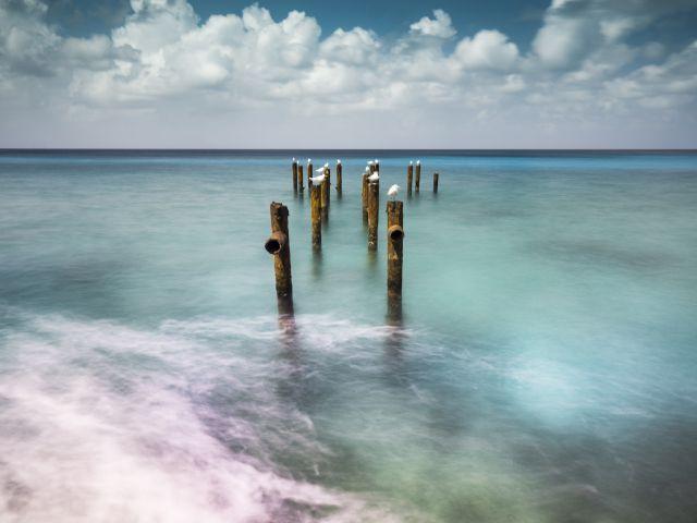 Poster O Cais   Mar paisagem