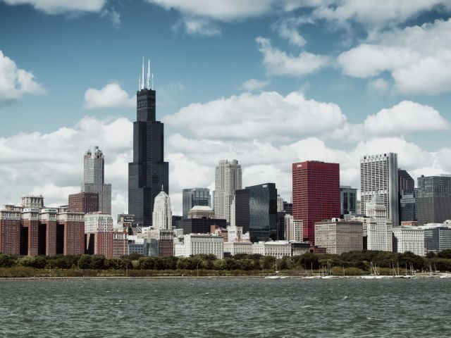 Poster Chicago 2   cidade paisagem