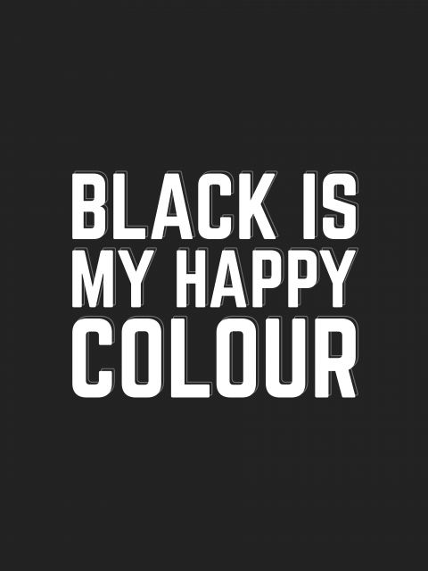 Poster Black Happy