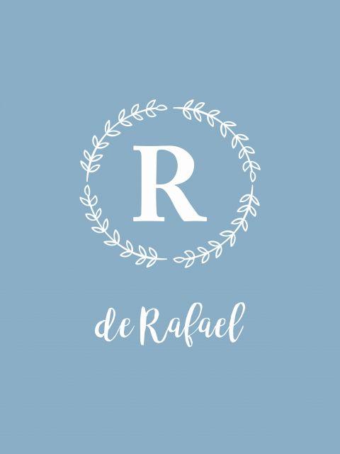 Poster Monograma Rafael