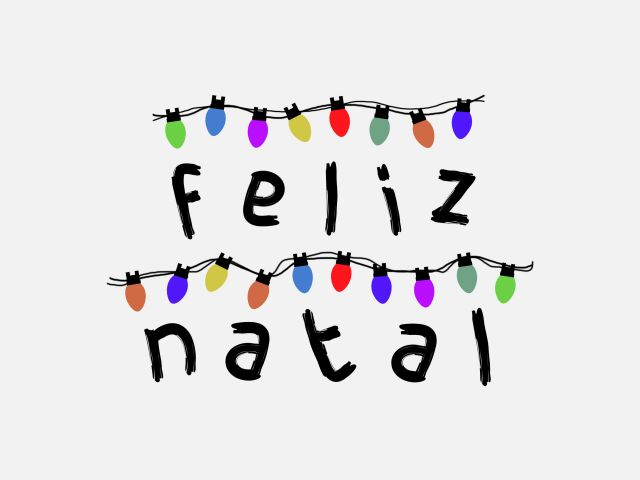 Poster Feliz Natal - Stranger Things