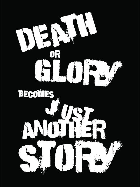 Poster Death Or Glory   the clash