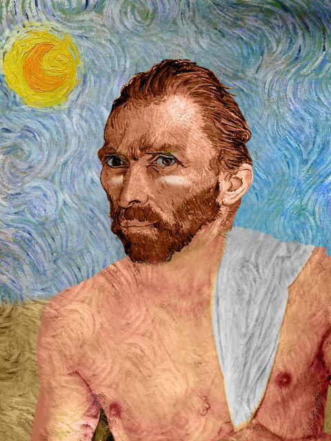 Poster Van Gogh de Férias   releitura