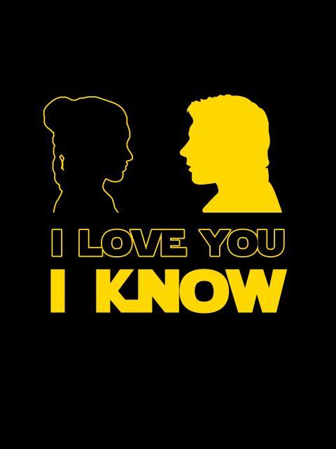 Poster Star Wars - I love you I know   star wars amarelo