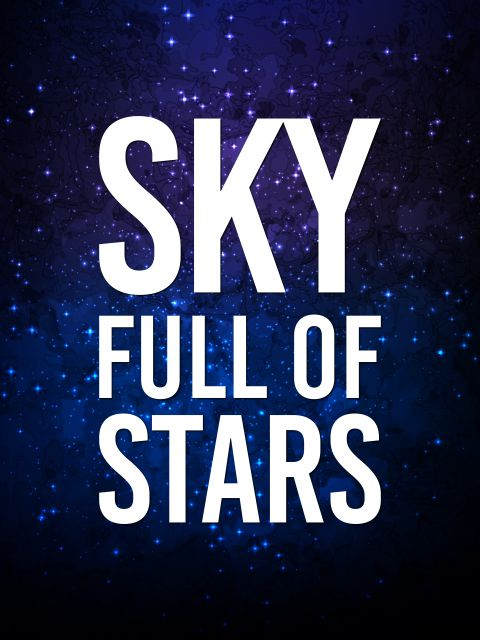 Poster Sky Full Of Stars   coldplay azul