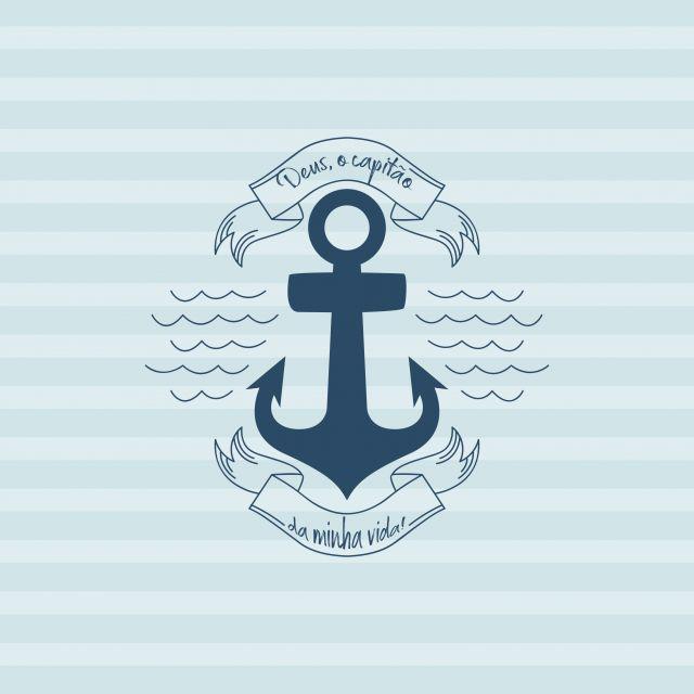 Poster Capitão da Vida   Azul