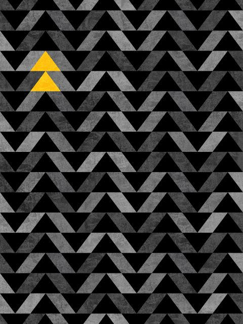 Poster Triangle - Yellow and Grey