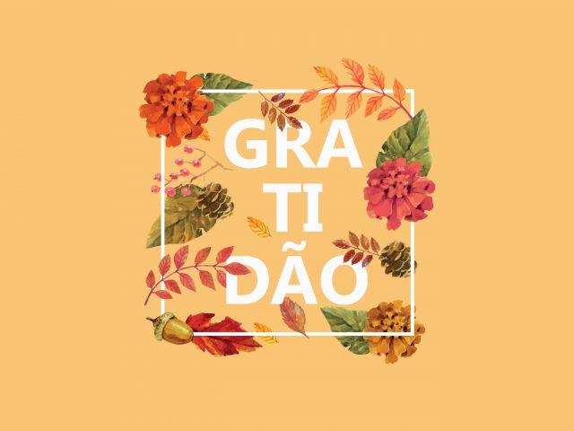 Poster Gratidão   amarelo