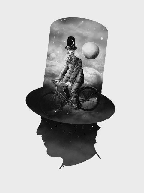 Poster O Viajante   Chapeleiro cartola chapéu