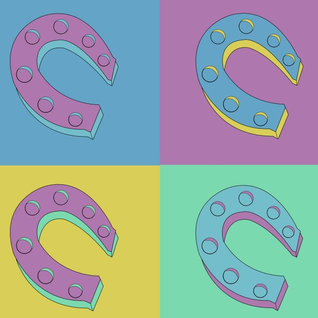 Poster Ferraduras    colorido