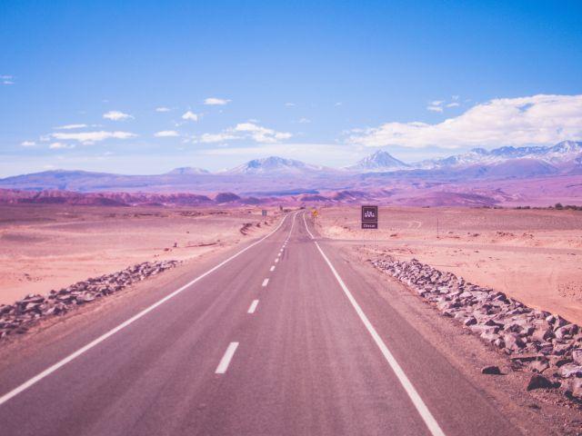 Poster Estradas no deserto