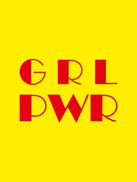 Poster Girl Power - Yellow