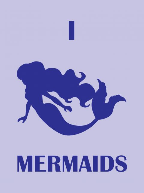 Poster I Love Mermaids   Sereia