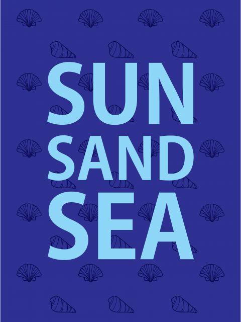 Poster Sun Sand and Sea