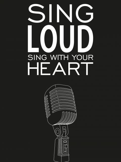 Poster Sing Loud   preto